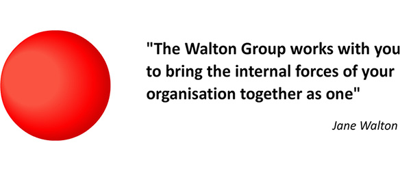 """The Walton Group works with you to bring the internal forces of your organisation together as one"" - Jane Walton"